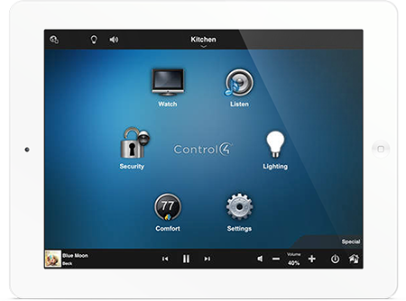 Ipad with Control4 Interface